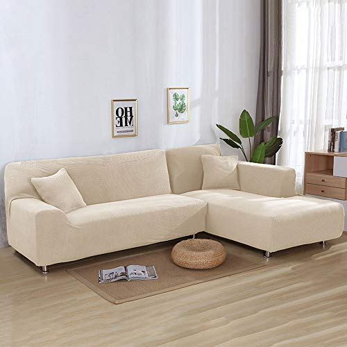 Everpertuk Housses de Canap/é /Élastique Extensible 1 Place Tout Compris Protecteur Couverture de Sofa Chaise Salon Rev/êtement de Canap/é pour Enfant Animaux Beige