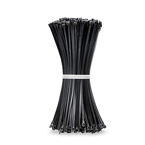 Beshine Bridas para Cables - 200mm x 3.6mm Bridas de Nailon, 500 Unidades, Negro