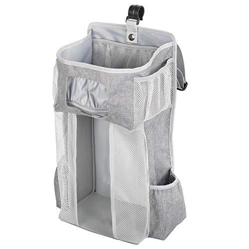 coil.c Babyluier-organizer, multifunctioneel nachtkastje om op te hangen voor babybed, auto, babyluier, caddy opbergtas, cadeaus voor pasgeborenen en jonge ouders