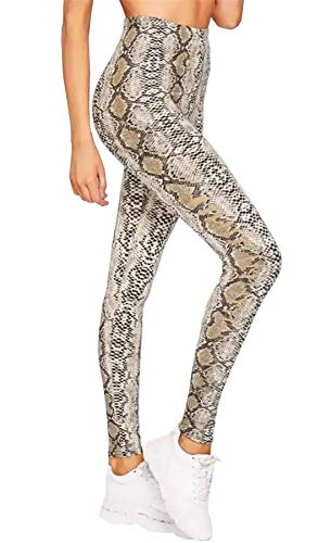 Islander Fashions Dames Snake Print hoge taille Legging Dames Stretchy in volle L nge Gym broek klein/XX gro.