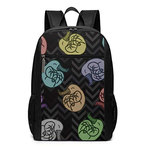 TRFashion Mochila Platypus Tumble On Gray Chevrons Unisex La