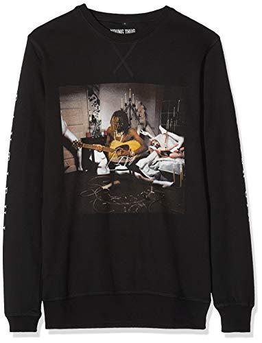 MERCHCODE Herren Young Thug Album Cover Crewneck Sweatshirt, Black, S