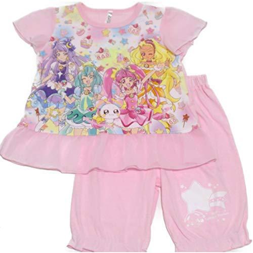 スタートゥインクルプリキュア 光るパジャマ 半袖パジャマ バンダイ 2464358 (ピンク, 130cm)