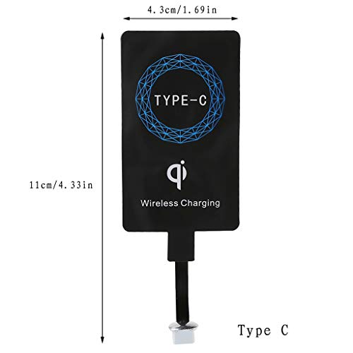 William-Lee Universal Thin USB 3.1 Type-C Qi Standard Wireless Charging Receiver kompatibel für Huawei P9 P10 Xiaomi Mi5 4S Oneplus 2 Letv 1S 2 Pro Max 2 LG G5