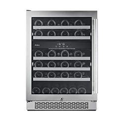 "Avallon AWC241DZLH 46 Bottle 24"" Dual Zone Built-In Wine Cooler"