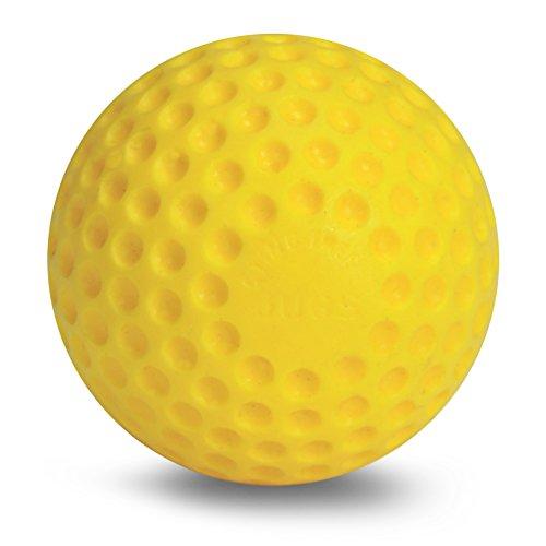 Jugs Yellow Dimpled Baseballs, 9-Inch, One Dozen