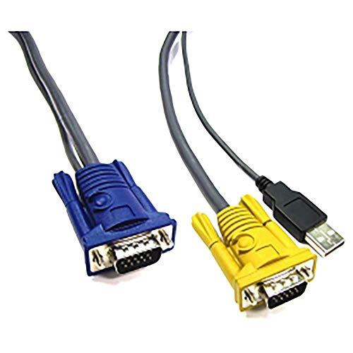 BeMatik - Cable Especial 2 en 1 VGA/USB 5m (HD15M/HD15M+Am)