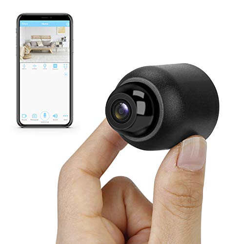 Mini Hidden Camera WiFi HD 1080P Spy Camera Small Wireless Security Camera Tiny Nanny Cam Baby Monitor Motion Detection Alert & Record Remote View on Android iOS App