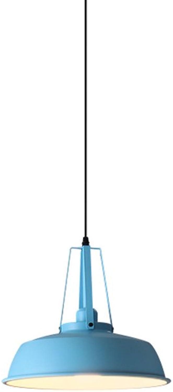 Nordic Eisen Kronleuchter, Mode LED Schwarz Blau Grün Beleuchtung Dekoration Deckenleuchten Moderne Minimalistische Restaurant Esstisch Kind Pendelleuchte (Farbe   Blau)