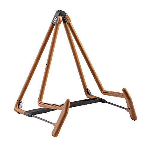K&M - König & Meyer 17580.014.95 - Heli 2 Acoustic Guitar Stand - Folding A-Frame for Acoustic Guitars - Adjustable & Collapsible – Sturdy & Durable - Pro's Choice - German Made - Cork Infused Rubber