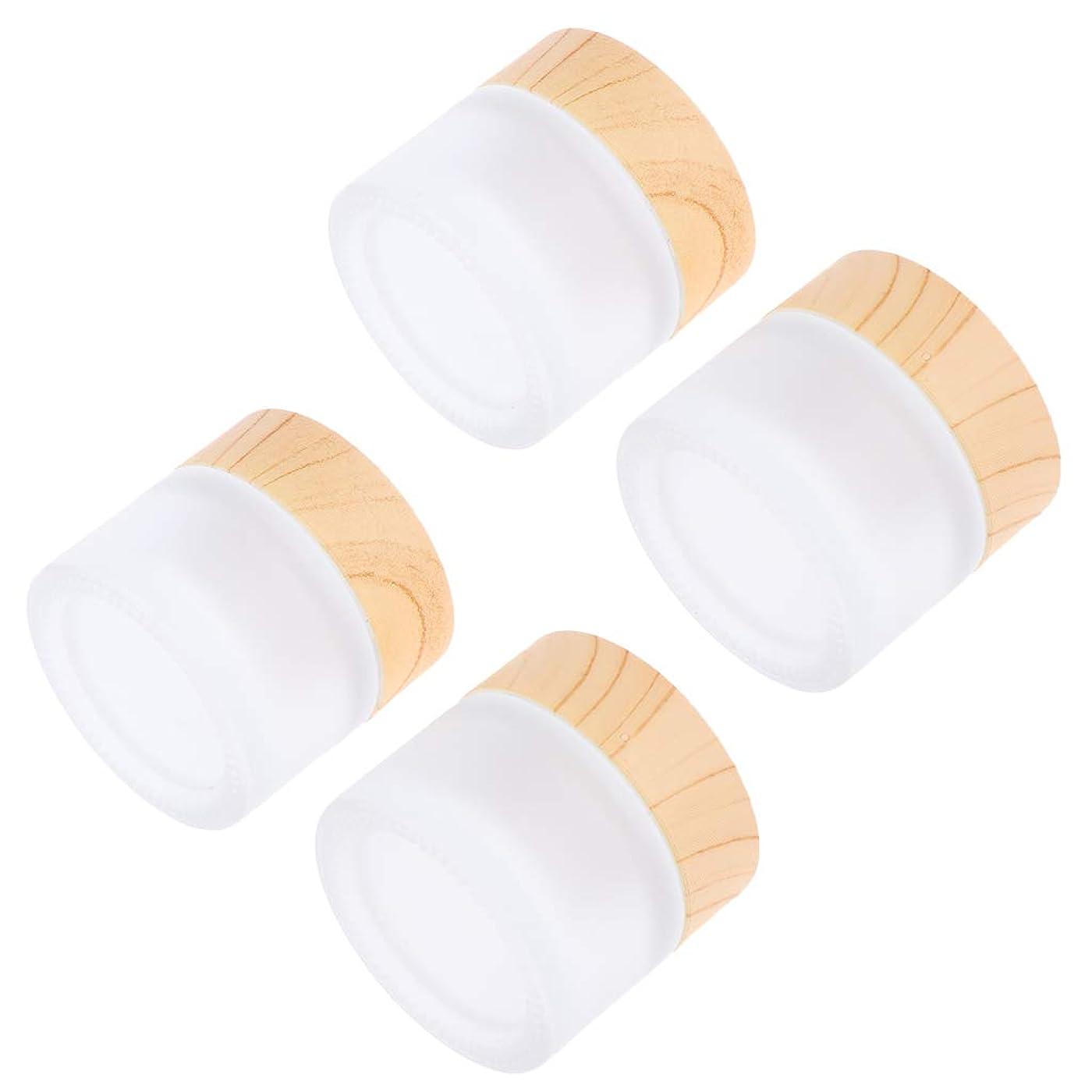 振る怖がって死ぬ分泌するB Baosity 4個 メイクアップジャー コスメ 詰替え容器 蓋付き ポット DIY ガラス コンテナ 4サイズ選べ - 10g