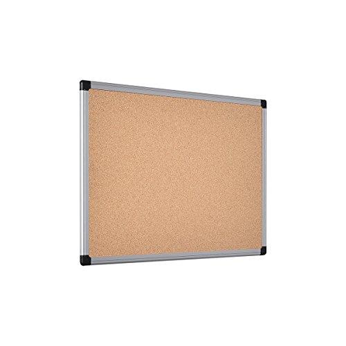 Bi-Office Tablica korkowa Maya z aluminiową ramą i wysokiej jakości powierzchnią z naturalnego korka, tablica do przypinania, 60 x 45 cm