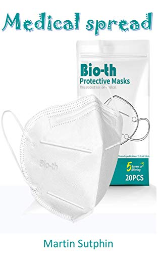 Medical spread : Bio-th 5 Ply Protective Face Mask, 5 Layers Cup Dust Safety Masks Pack of 20 (English Edition)