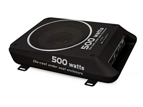Caliber BC108US Aktiv Subwoofer mit integriertem Verstärker, 500W matt-schwarz