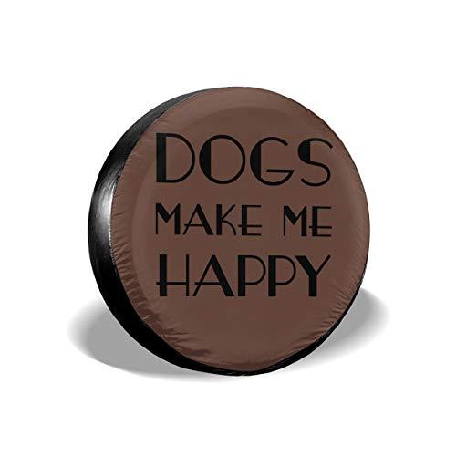 Tumskra Dogs Make Me Happy Cubiertas de Llantas Protector de Rueda Cubierta de llanta L-i-b-e-r-t-y Se Adapta a diámetro de llanta de 17 Pulgadas
