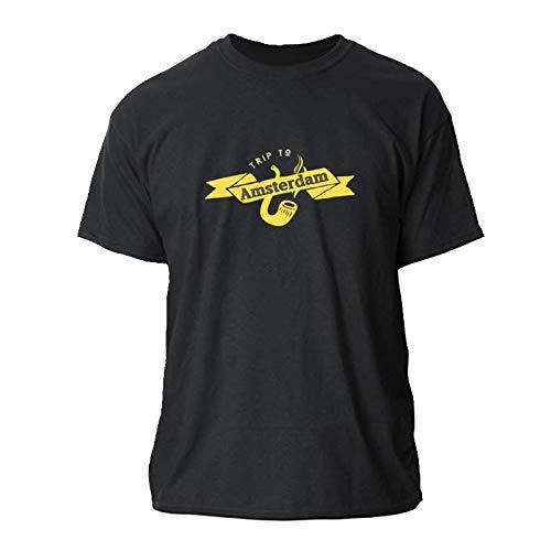 Trip To Amsterdam T-Shirt For Men Euro Size Fitness T Shirt Men...