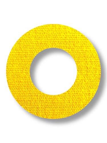 FixTape ademende sensor tape-ring voor Freestyle Libre 1 & 2 I ronde zelfklevende patches met gat voor glucose sensor I veel draagcomfort I huidvriendelijk watervastI 7 stuks (Geel)