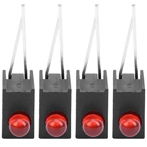 100 Uds, 3 mm, portalámparas de plástico para lámpara, con soporte lateral, accesorios industriales de un solo orificio, soporte de(Red light)