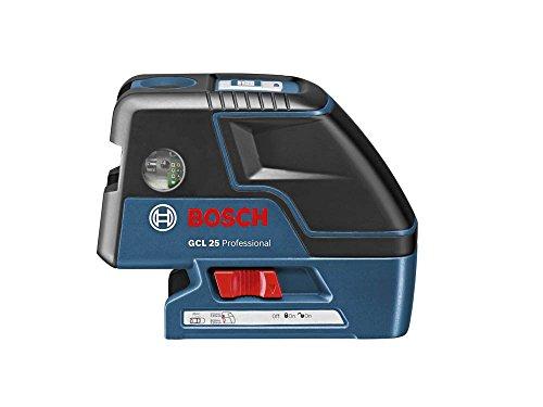 Bosch Professional GCL 25 Livella Laser Combinata, Campo di Autolivellamento ± 4°, Blu