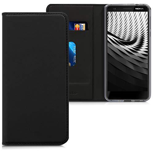 kwmobile Nokia 5.1 (2018) Cover - Custodia a Libro in Simil Pelle PU per Smartphone Nokia 5.1 (2018) - Flip Case Protettiva
