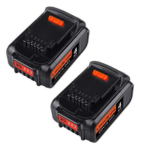 [2Pack] Futurebatt 20V 4.0Ah Replacement Battery for Dewalt DCB205 DCB206 DCB204 DCB203 DCB200 DCB180 DCB230 DCD DCF DCG Series 20-Volt Tools Battery