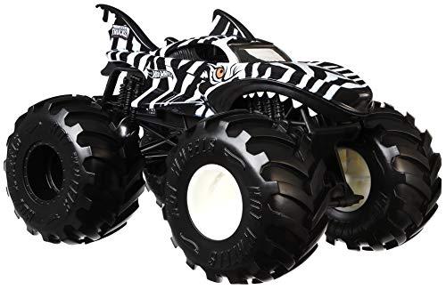 Hot Wheels Mattel – GJG31 Monster Trucks – Zebra Shark – Die-Cast Monstertruck im Maßstab 1:24