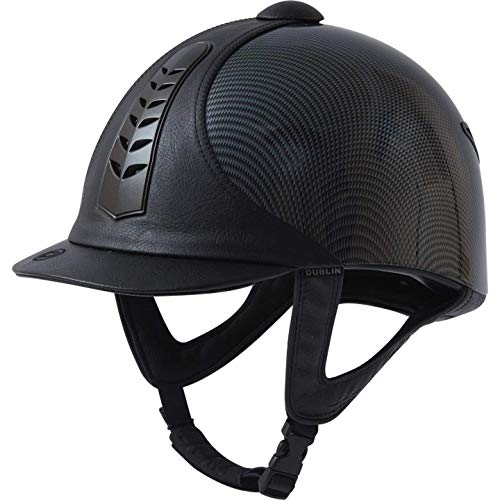 Dublin Silver Pro Graphic Riding Hat 52cm Black