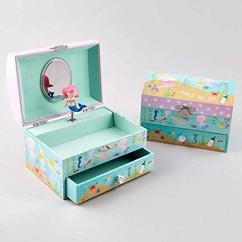 Mermaid Musical Jewellery Box with Drawer
