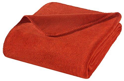 WOHNWOHL Kuscheldecke 150x200cm • weiche Tagesdecke • Sofadecke • Wohndecke • Schlafdecke • Ökotex Zertifizierte Baumwolldecke • Farbe: Rot