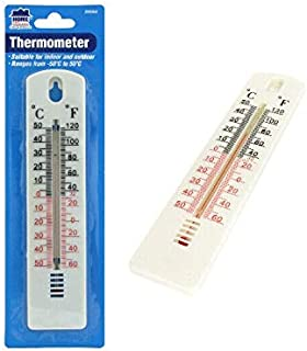Indoor Outdoor Thermometer Mercury Free Celsius Fahrenheit Reading Scale Home