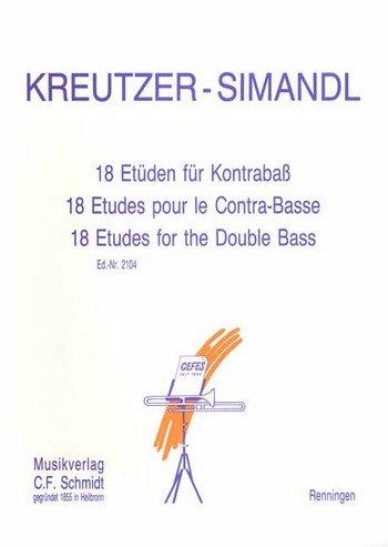 KREUTZER - Estudios (18) para Contrabajo (Simandl)