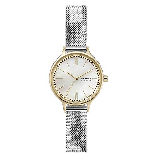 Skagen Damen Analog Quarz Uhr mit Edelstahl Armband SKW2866