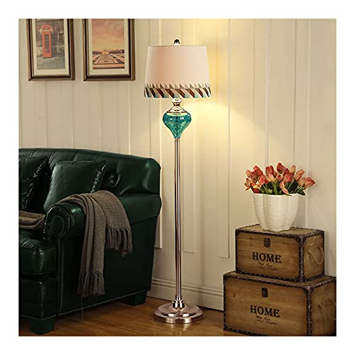 Indoor Vloerlamp, modern staande licht met stof lampenkap, led-vloerlamp voor woonkamer, slaapkamer, leeslicht, piano…