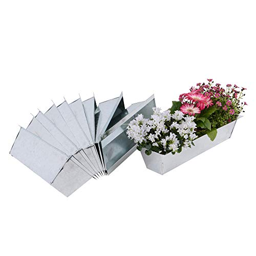 Nature by Kolibri Blumenkasten Set Balkonkasten Einsatz passend für Europaletten für Blumen, Kräuter und Früchte 10 Stück 38cm