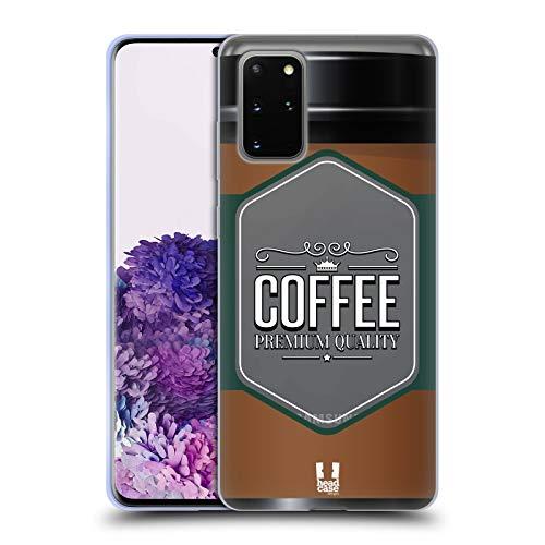 Head Case Designs Kaffeetasse Lebenswichtige Güter Soft Gel Huelle kompatibel mit Samsung Galaxy S20+ / S20+ 5G