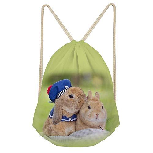 QWE Solid Color Animal Drawstring Bag Backpack Kids Boys Gift DOISLL (Color : Animal 4)