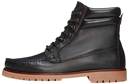 find. Leather Boat Chukka Boots, Schwarz Black), 41 EU