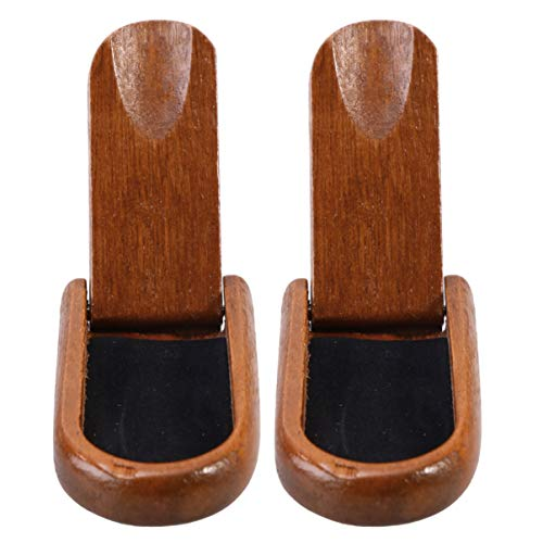 Vosarea 2pcs Tobacco Pipe Stands Wooden Tobacco Pipe Rack Stands Foldable Tobacco Pipe Holder Stands for Adults Men Male Brown