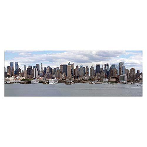 LOLAhome Cuadro cabecero de Cama en diseño Lienzo 150x50 cm (Ciudad)