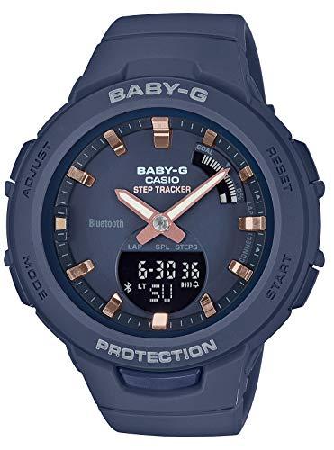 [カシオ] 腕時計 ベビージー FOR SPORTS 歩数計測 Bluetooth 搭載 BSA-B100-2AJF レディース ブルー