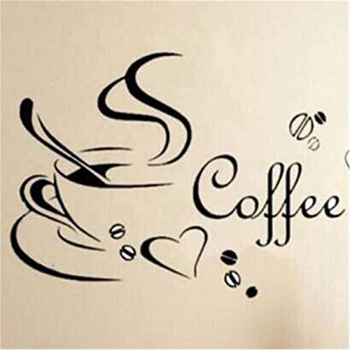 unknow Husmniors - Adhesivo decorativo para pared, diseño de taza de café