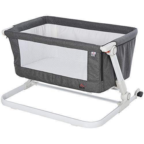 HOMCOM Baby Bedside Co Sleeper Crib Infant Bassinet Cot Height Adjustable...