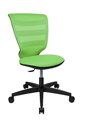 Topstar X-Pander Junior, ergonomischer Kinderdrehstuhl, Schreibtischstuhl, Stoff, Apfelgrün