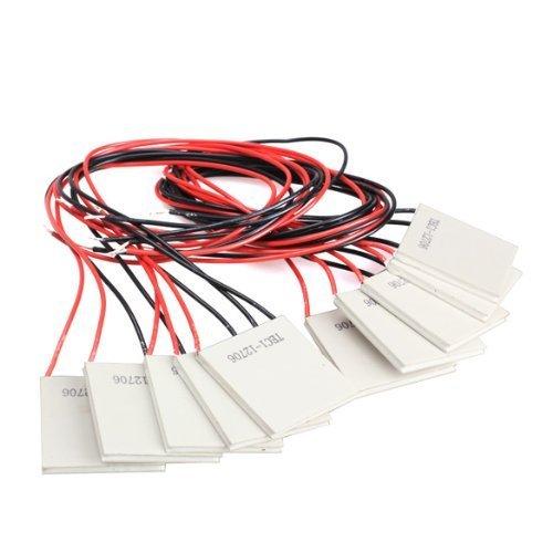 Wishlink Packung mit 10 Stück TEC1-12706 40 * 40MM 12V 60W Kühlkörper Thermoelektrischer Kühler Kühlpeltierplattenmodul