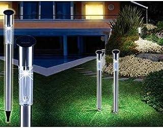 Set 2 faroles solares de jardín 1 LED y 70CM de largo iluminación camino: Amazon.es: Iluminación