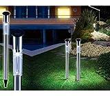 Set 2 faroles solares de jardín 1 LED y 70CM de largo iluminación camino