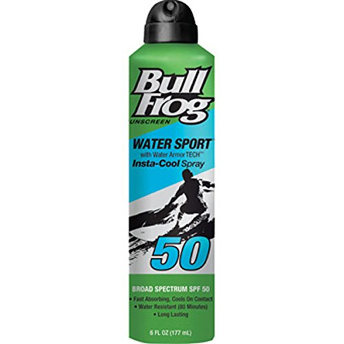 Bullfrog Sunscreen, Water Armour Sport Instacool, Spray, Spf 50, 6oz, 6 Oz
