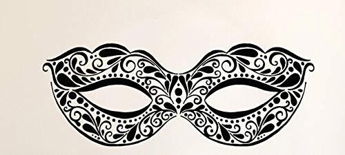 Axlgw Masquerade Masker Vinyl Muursticker Carnaval Party Decor Art Stickers Muurschildering voor Meisjes Slaapkamer Decoratie Behang Maat 57X21 cm
