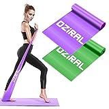 Oziral Bande Élastique Fitness Bande de Résistance en Latex Naturel Équipement d'Exercices pour Rééducation Physique Musculation Pilates Yoga