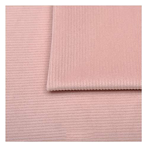 NAKAN Tela de Terciopelo Rosa por Metro 150 Cm de Ancho Tira de Polister Tela Decorativa para Manualidades de Costura, Cojines, Fundas de Asientos
